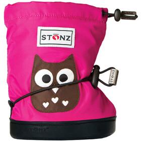 Stonz Owl Booties Fuchsia